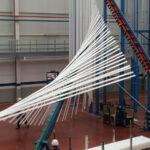 Vertical powder coating aluminium finishing