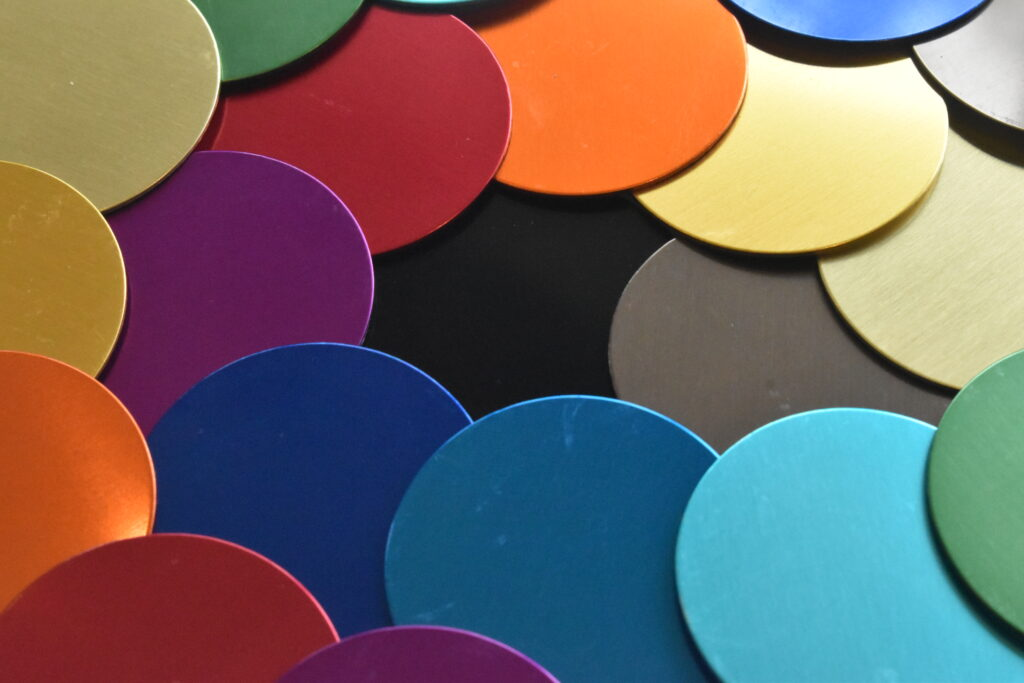 Anodising colour selection